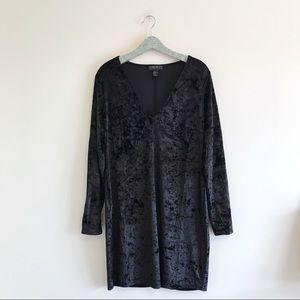 Forever 21 Plus | Crushed Velvet V-neck Dress